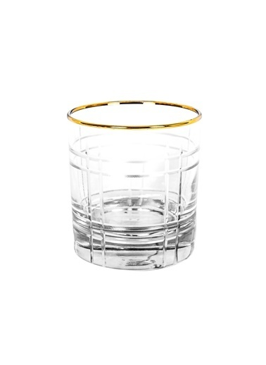 Rakle 300 cc Stripe Crystal Meşrubat Bardağı Füme